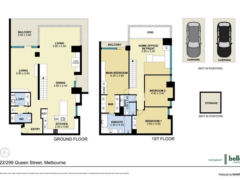 222/299 Queen Street, Melbourne, Vic 3000 - floorplan