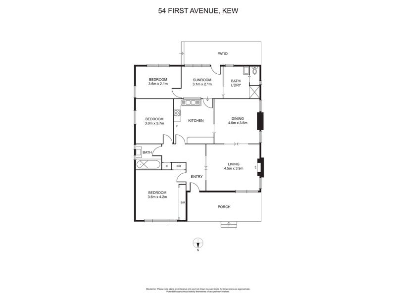 54 First Avenue, Kew, Vic 3101 - floorplan