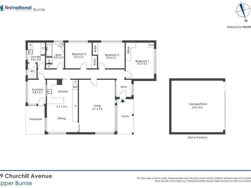 19 Churchill Avenue, Upper Burnie, Tas 7320 - floorplan