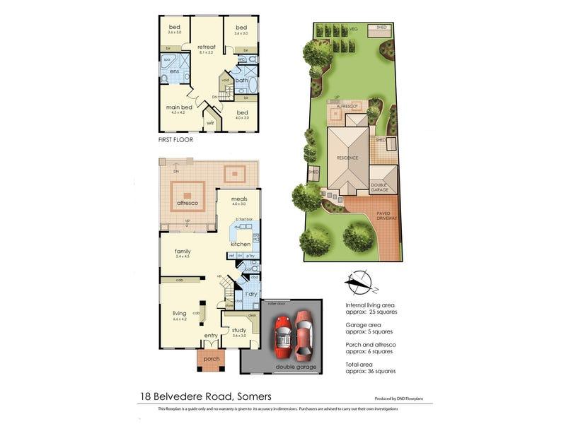 18 Belvedere Road, Somers, Vic 3927 - floorplan