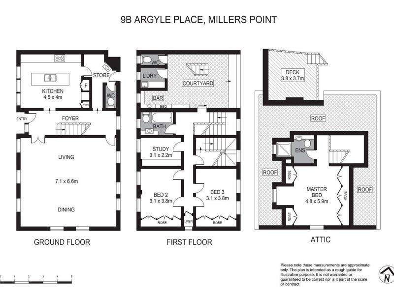 9B Argyle Place, Millers Point, NSW 2000 - floorplan