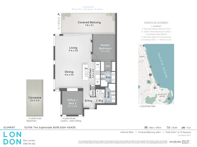 12/106 The Esplanade, Burleigh Heads, Qld 4220 - floorplan