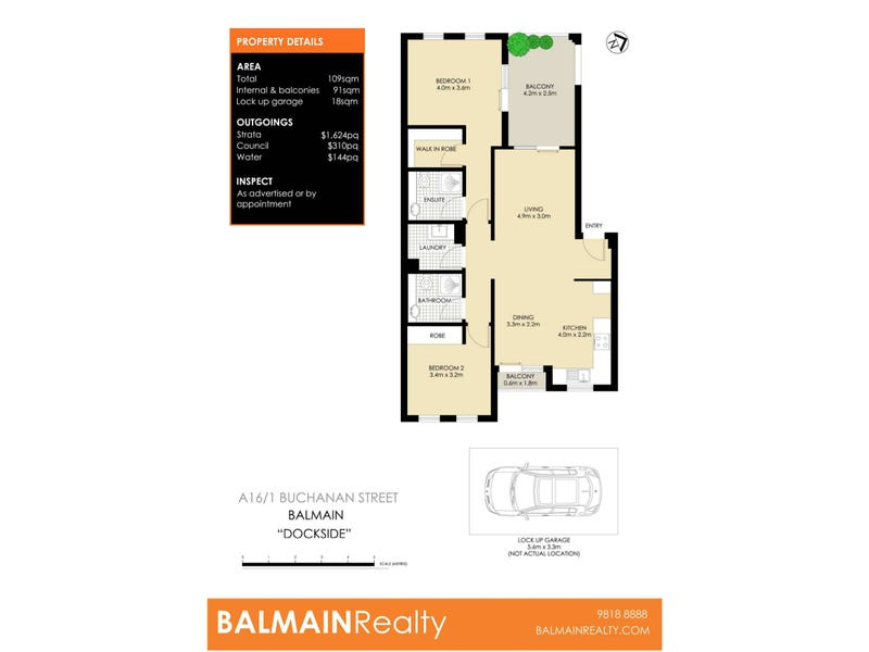A16/1 Buchanan Street, Balmain, NSW 2041 - floorplan