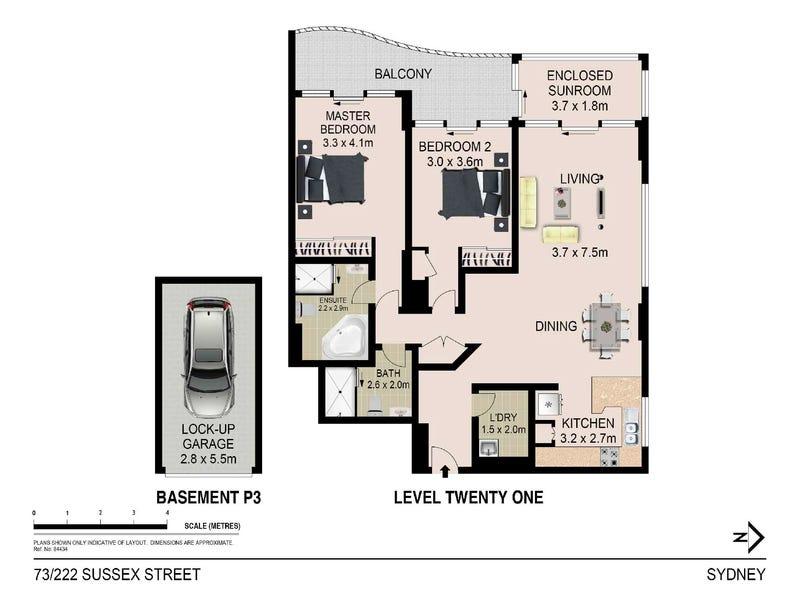 73/222 Sussex Street, Sydney, NSW 2000 - floorplan