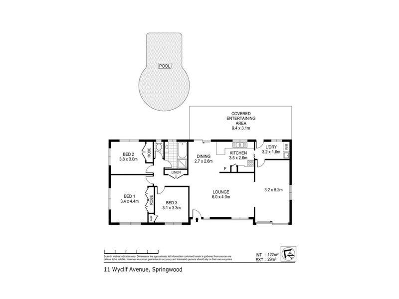 11 Wyclif Avenue, Springwood, Qld 4127 - floorplan