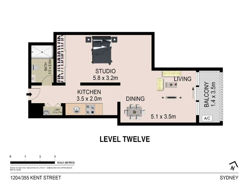 1204/355 Kent Street, Sydney, NSW 2000 - floorplan