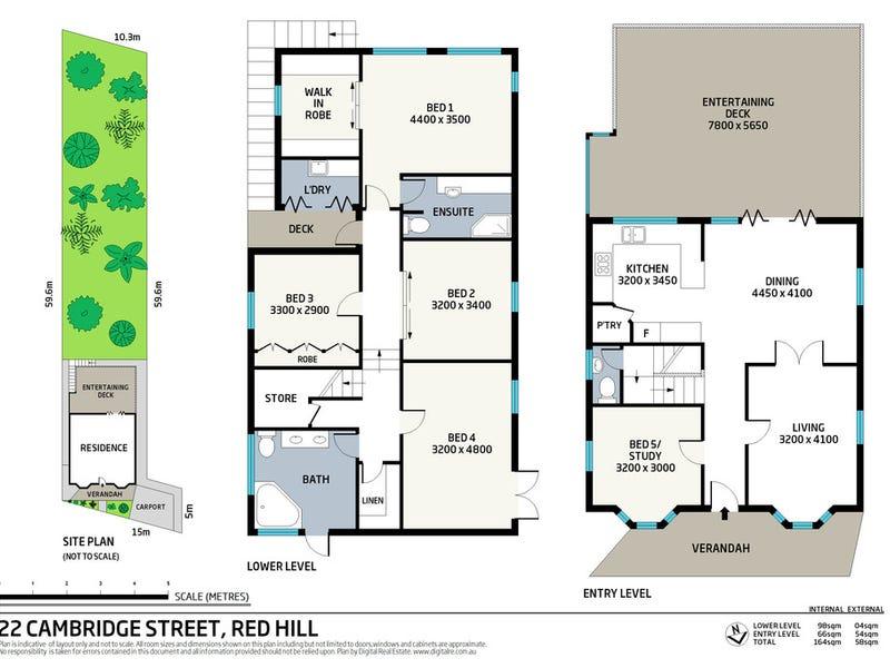 22 Cambridge Street, Red Hill, Qld 4059 - floorplan