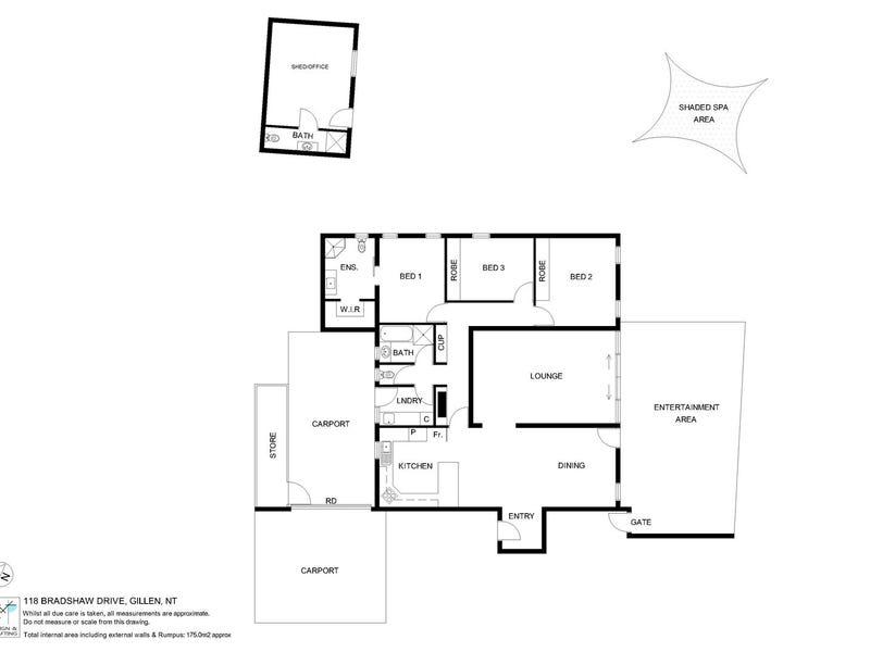 118 Bradshaw Drive, Gillen, NT 0870 - floorplan