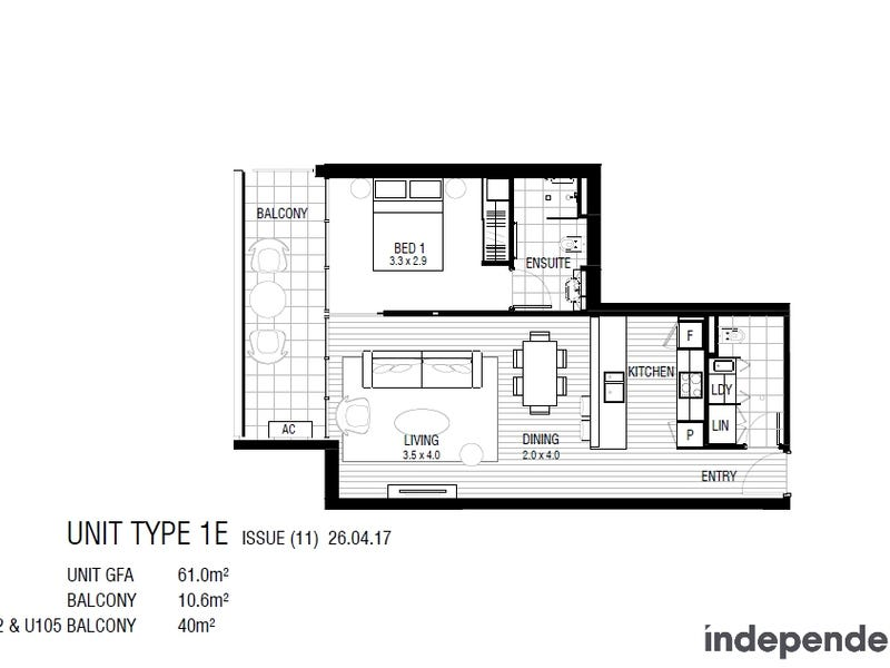 330/38 Eyre Street, Kingston, ACT 2604 - floorplan