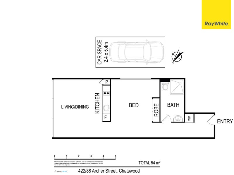 422/88 Archer Street, Chatswood, NSW 2067 - floorplan