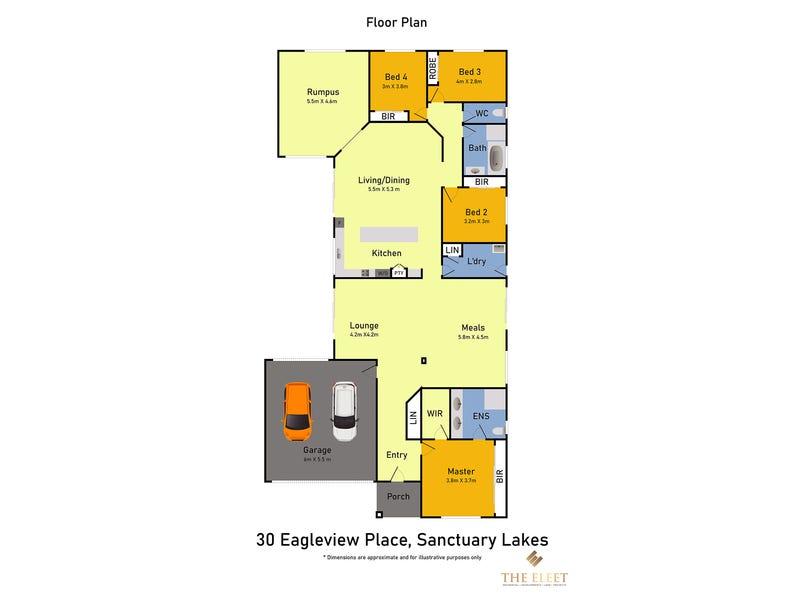 30 Eagleview Place, Sanctuary Lakes, Vic 3030 - floorplan
