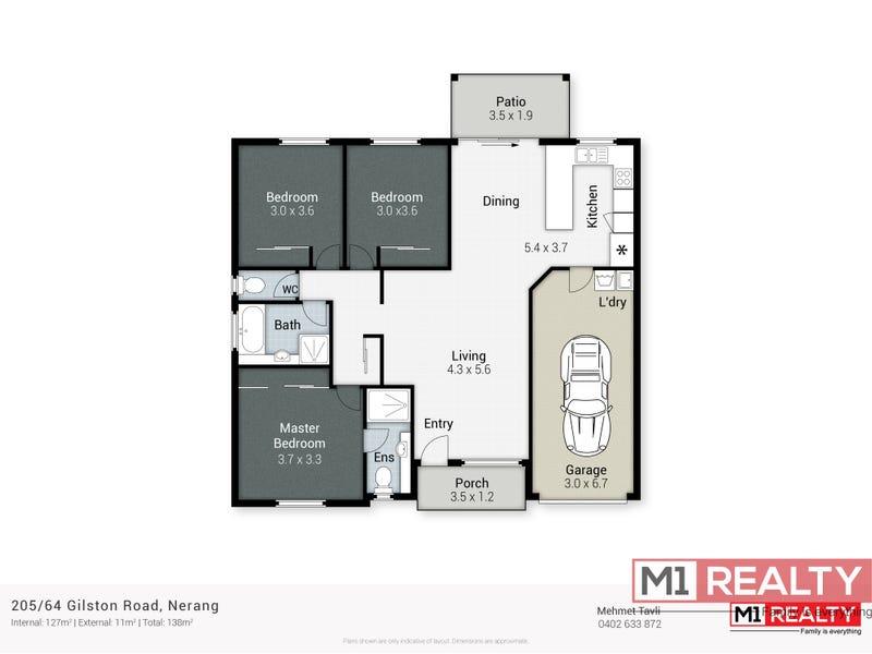 205/64 Gilston Road, Nerang, Qld 4211 - floorplan
