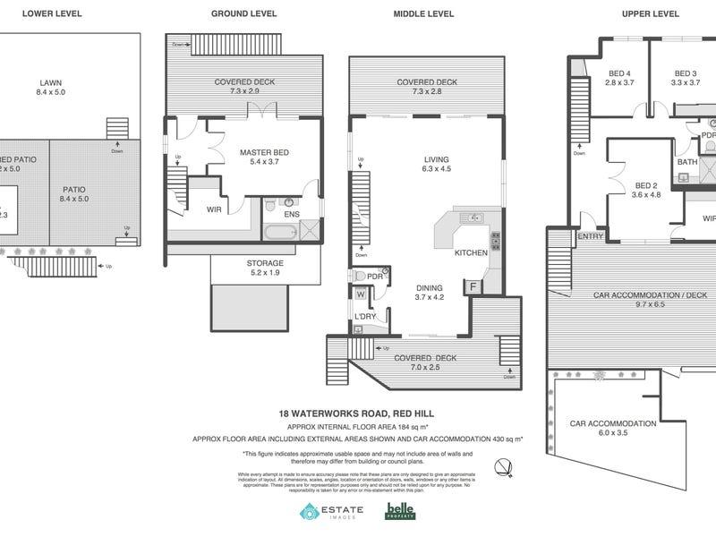 18 Waterworks Road, Red Hill, Qld 4059 - floorplan