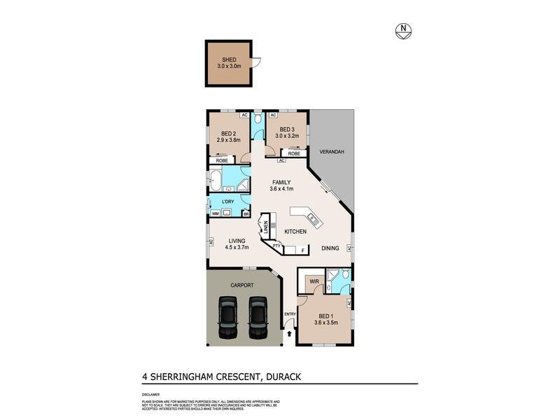 4 Sherringham Crescent, Durack, NT 0830 - floorplan