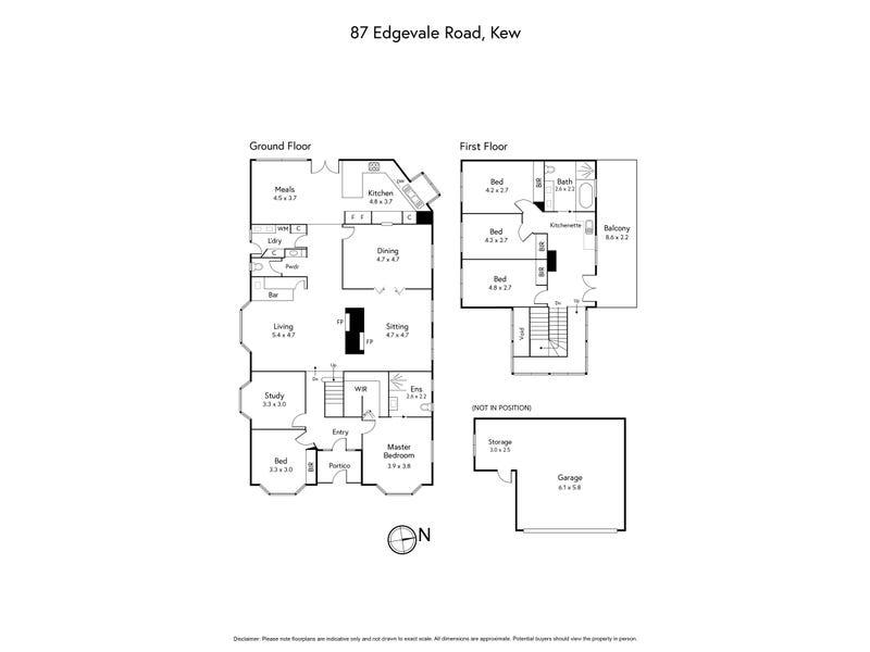 87 Edgevale Road, Kew, Vic 3101 - floorplan