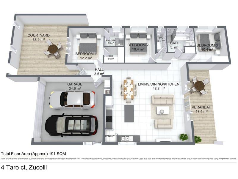 4 Taro Street, Zuccoli, NT 0832 - floorplan