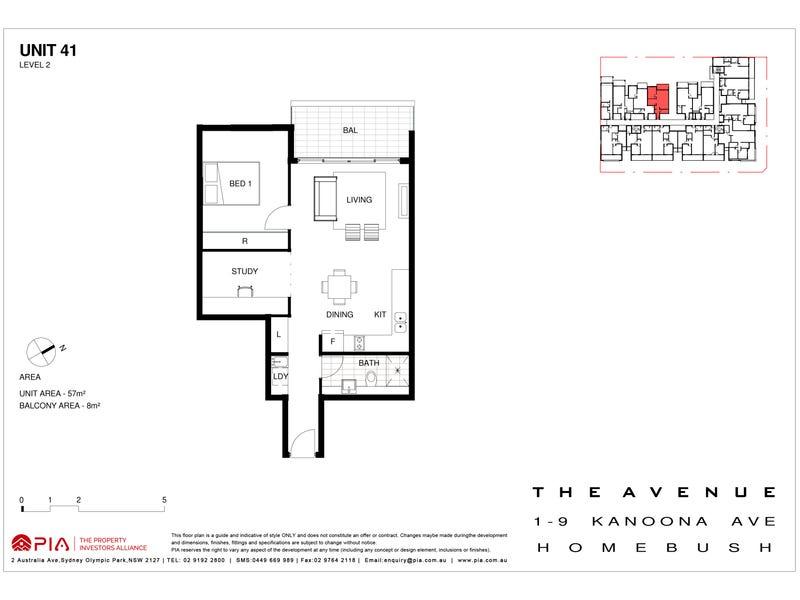 44/1-9 Kanoona Avenue, Homebush, NSW 2140 - floorplan