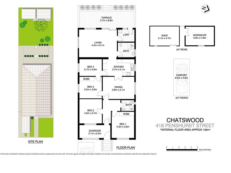 418 Penshurst Street, Chatswood, NSW 2067 - floorplan