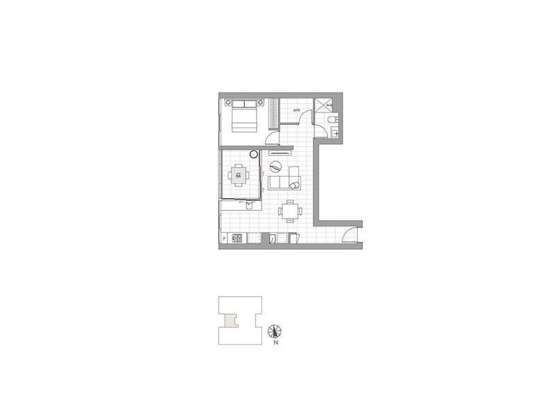 3058/36 Evelyn Street, Newstead, Qld 4006 - floorplan