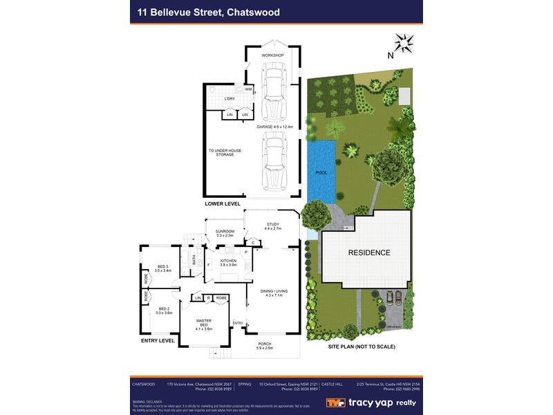 11 Bellevue Street, Chatswood, NSW 2067 - floorplan