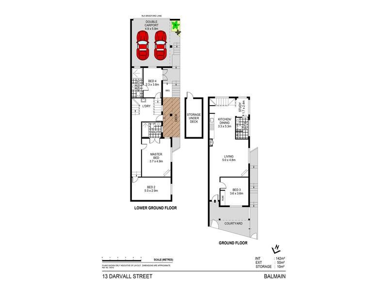 13 Darvall Street, Balmain, NSW 2041 - floorplan