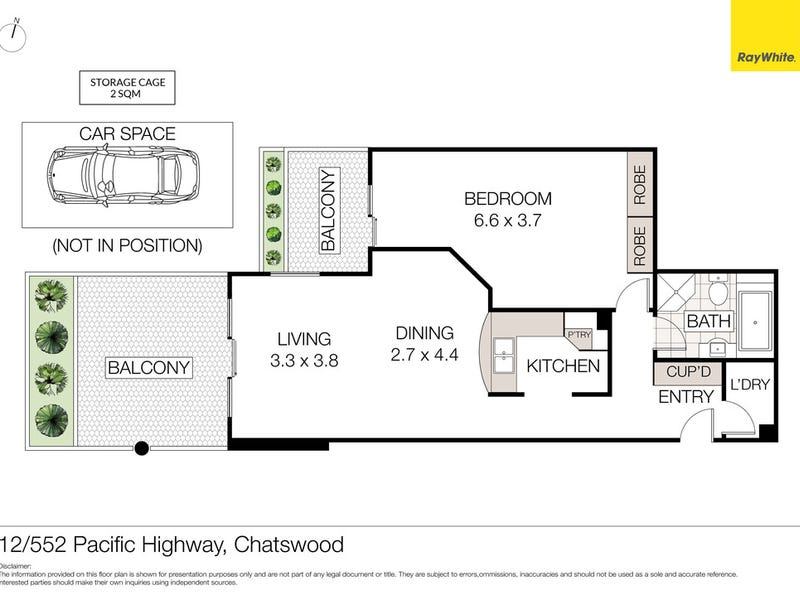 12/552-554 Pacific Highway (rear of the block), Chatswood, NSW 2067 - floorplan