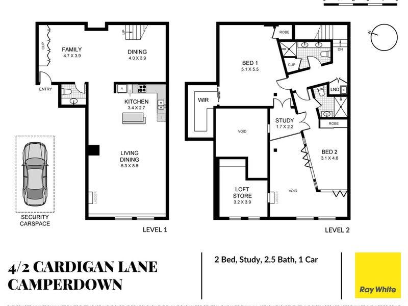 4/2 Cardigan Lane, Camperdown, NSW 2050 - floorplan