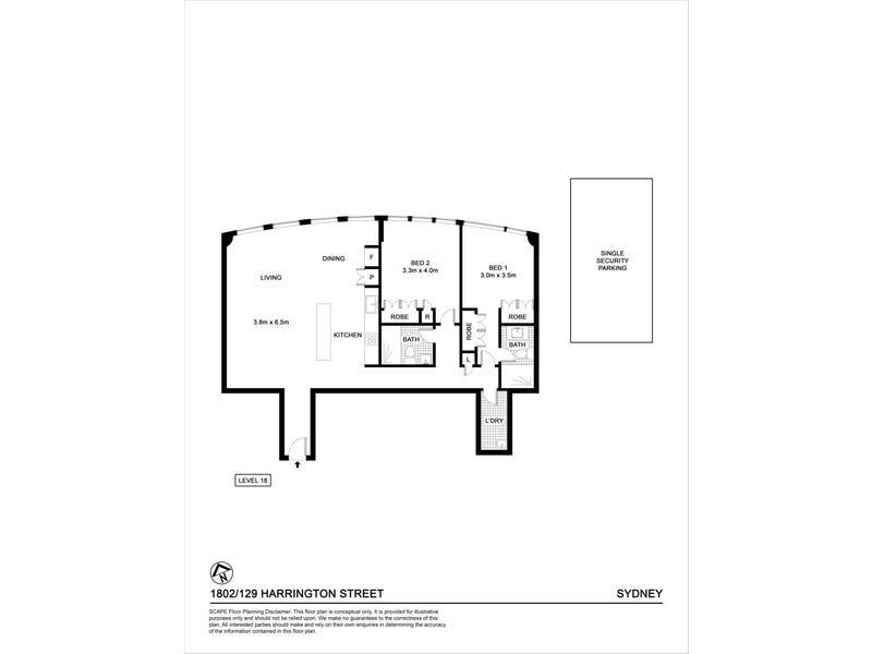 1802/129 Harrington Street, Sydney, NSW 2000 - floorplan