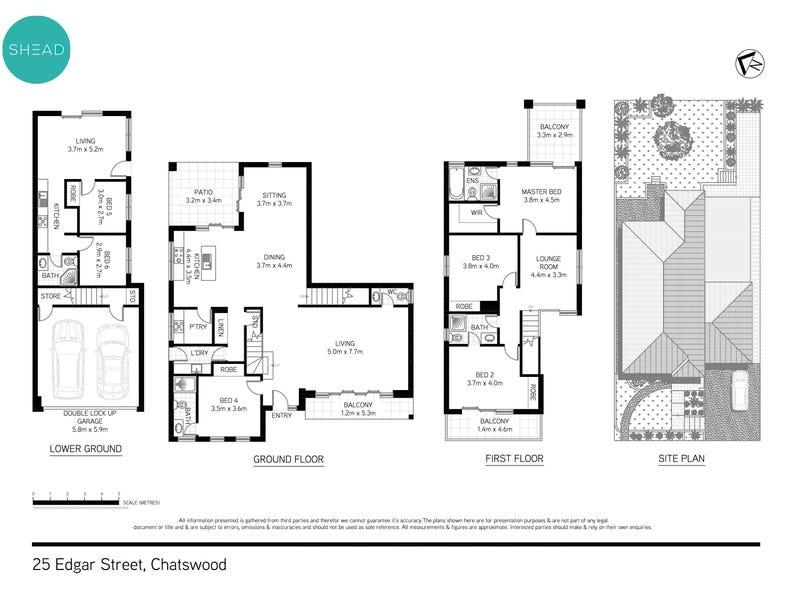 25 Edgar Street, Chatswood, NSW 2067 - floorplan