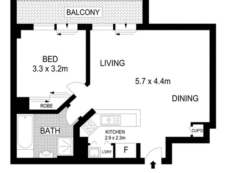 298/298 Sussex Street, Sydney, NSW 2000 - floorplan