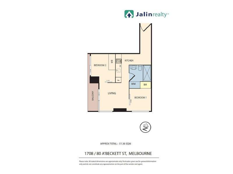 1708/80 A'beckett Street, Melbourne, Vic 3000 - floorplan