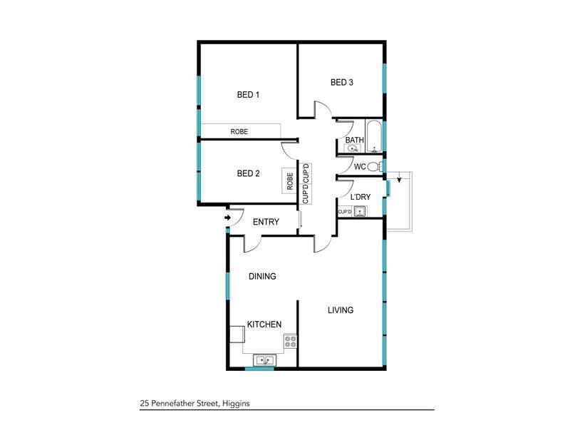 25 Pennefather Street, Higgins, ACT 2615 - floorplan