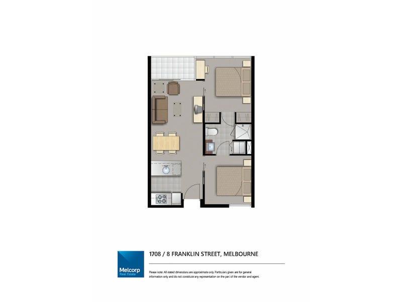 1708/8 Franklin Street, Melbourne, Vic 3000 - floorplan
