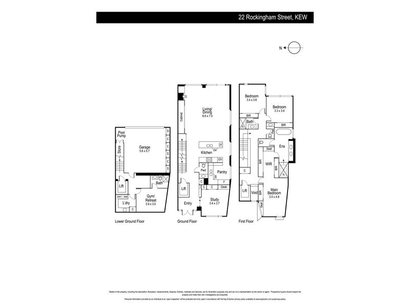 22 Rockingham Street, Kew, Vic 3101 - floorplan