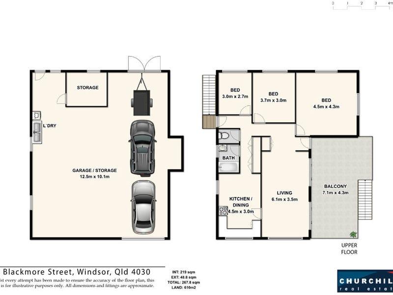 40 Blackmore Street, Windsor, Qld 4030 - floorplan