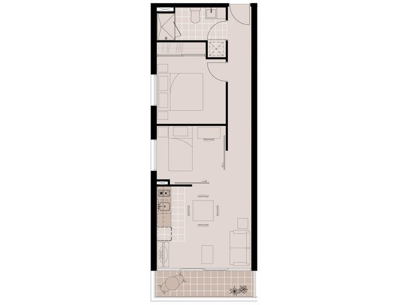 2113/25 Therry Street, Melbourne, Vic 3000 - floorplan