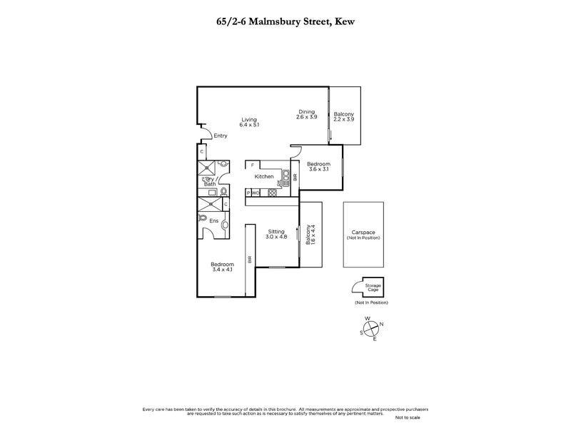 65/2-6 Malmsbury Street, Kew, Vic 3101 - floorplan