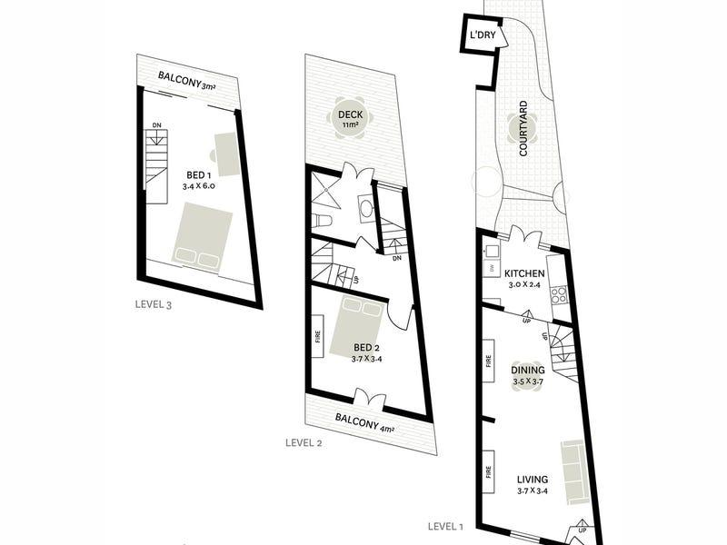 13 Alexander Street, Surry Hills, NSW 2010 - floorplan