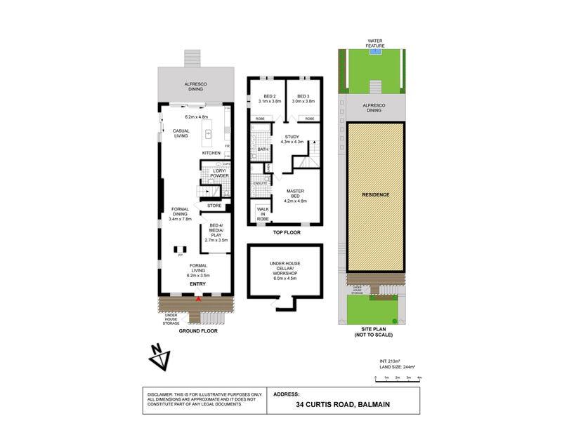 34 Curtis Road, Balmain, NSW 2041 - floorplan