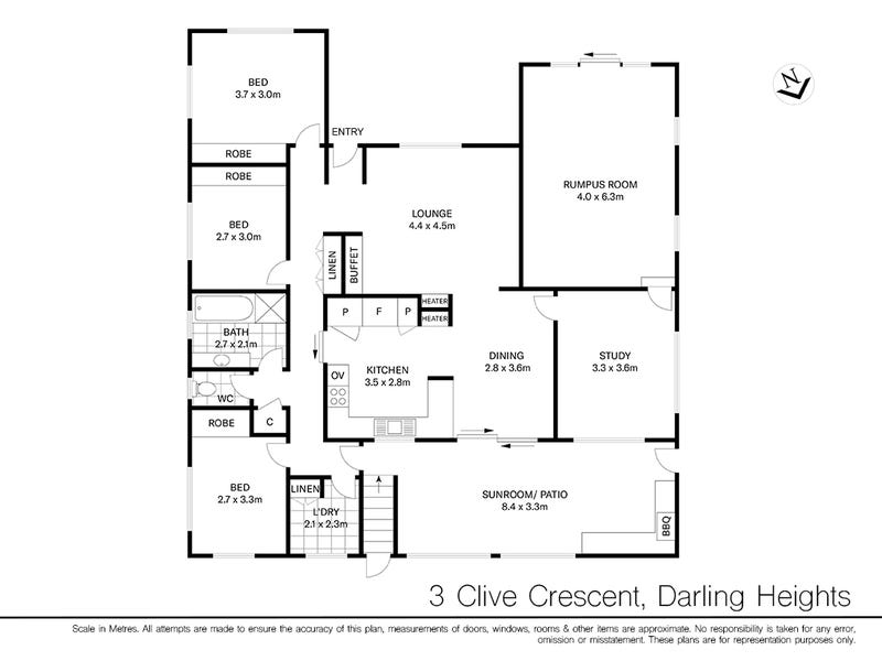 3 Clive Crescent, Darling Heights, Qld 4350 - floorplan