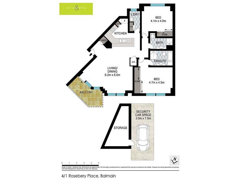 4/1 Rosebery Place, Balmain, NSW 2041 - floorplan