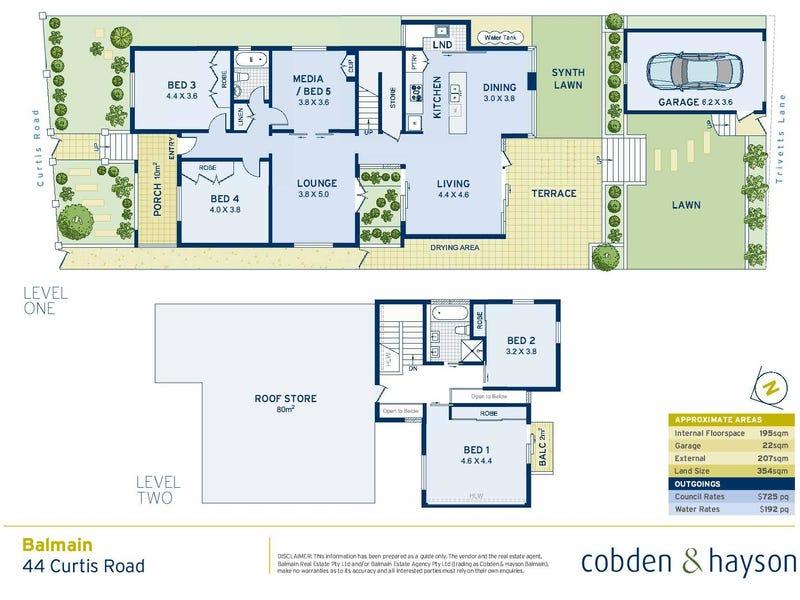 44 Curtis Road, Balmain, NSW 2041 - floorplan
