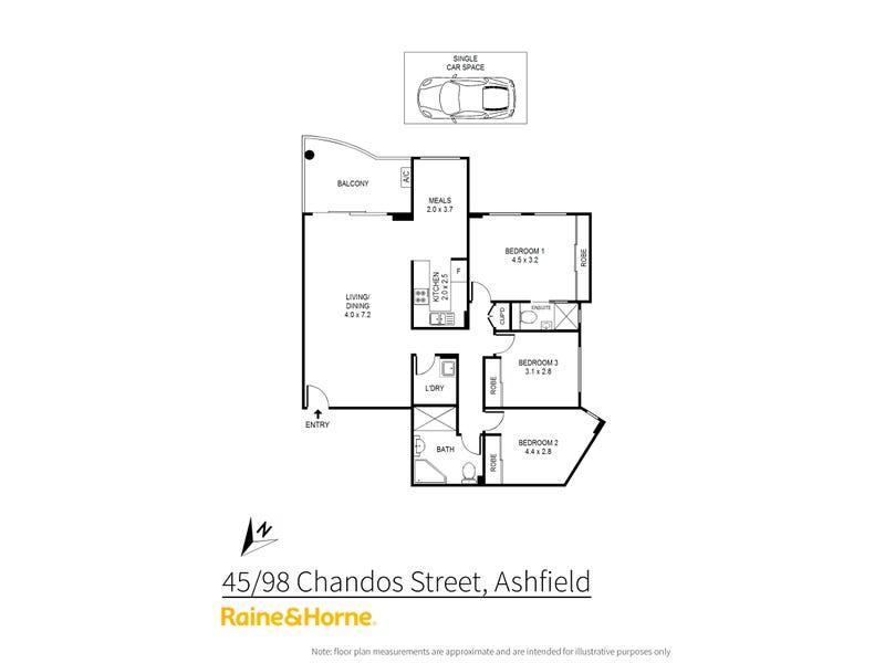 45/98 Chandos Street, Ashfield, NSW 2131 - floorplan