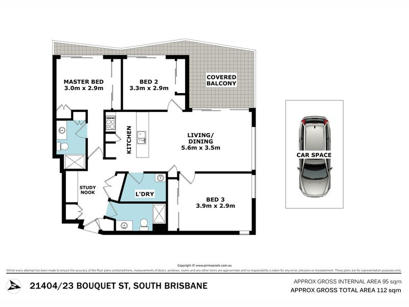 21404/23 Bouquet Street, South Brisbane, Qld 4101 - floorplan