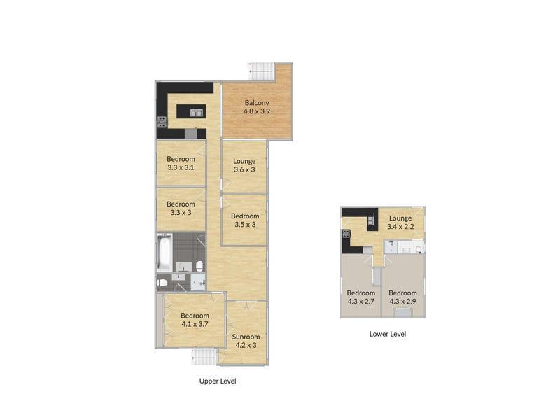 8 Scott Street, Red Hill, Qld 4059 - floorplan