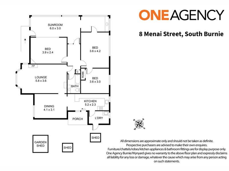 8 Menai Street, South Burnie, Tas 7320 - floorplan