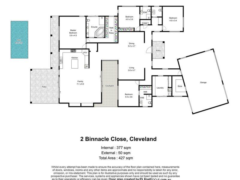 2 Binnacle Close, Raby Bay, Qld 4163 - floorplan