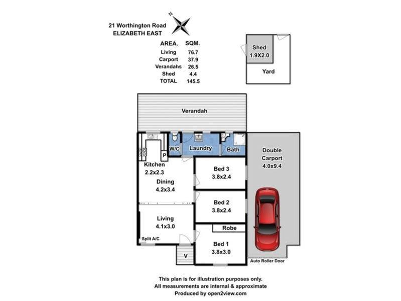 21 Worthington Road, Elizabeth East, SA 5112 - floorplan