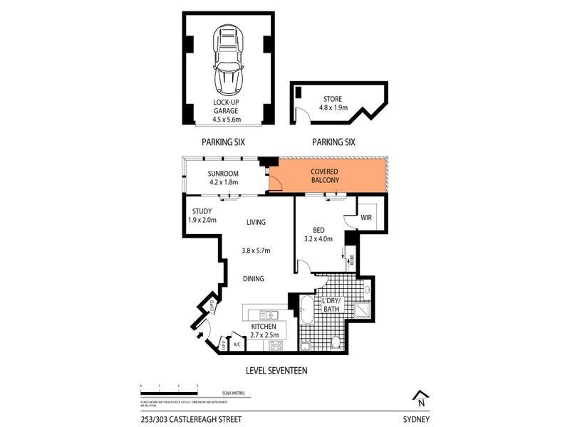 253/303 Castlereagh St, Sydney, NSW 2000 - floorplan