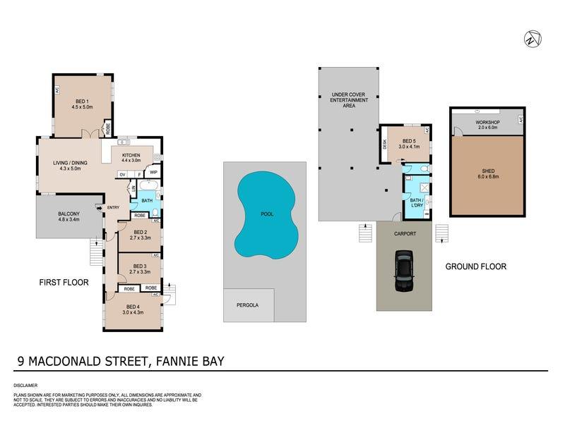 9 MacDonald Street, Fannie Bay, NT 0820 - floorplan